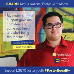 Isaiah #FosterEquality National Foster Care Month