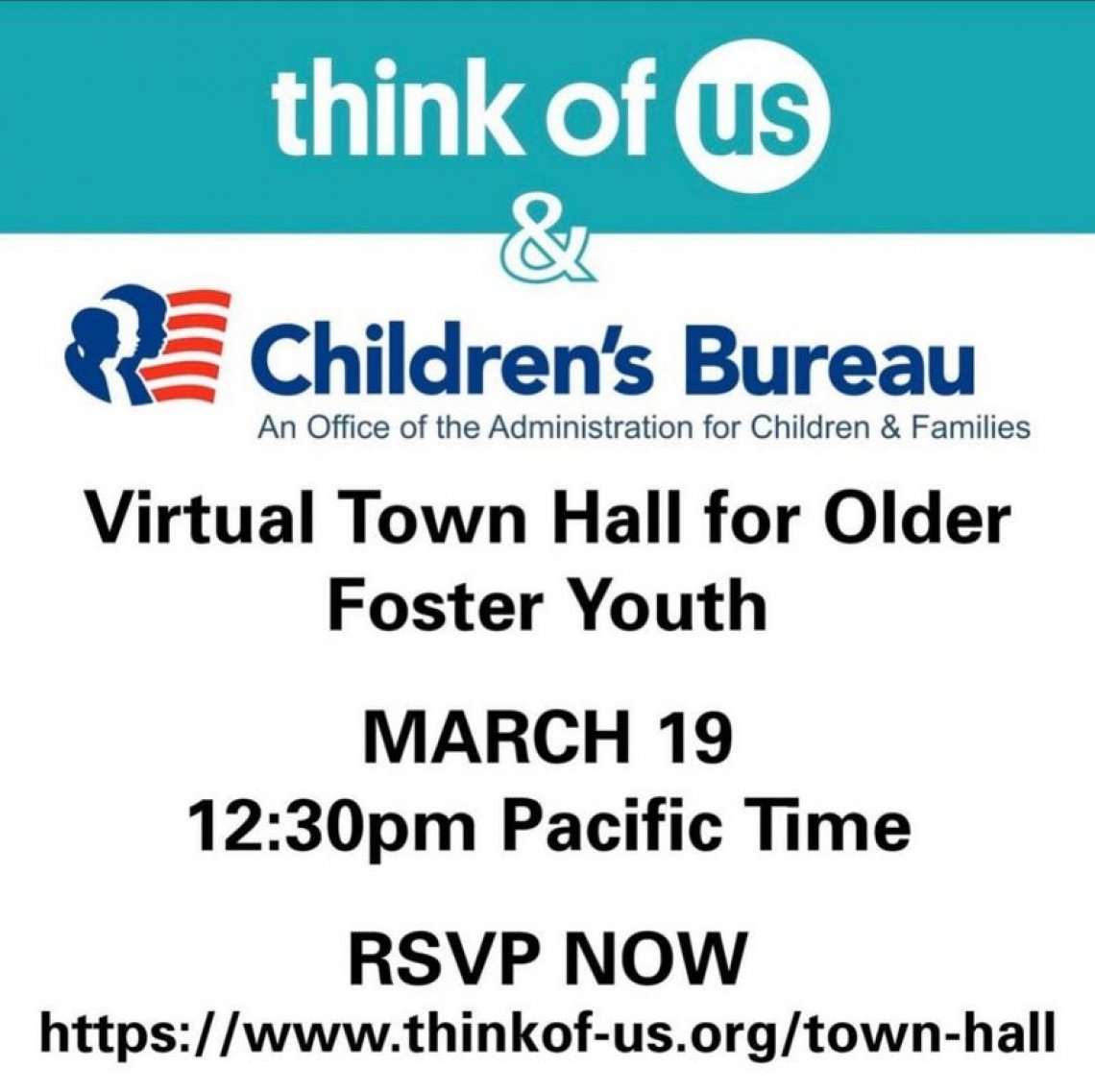 Children's Bureau Think of Us Older Youth Town Hall