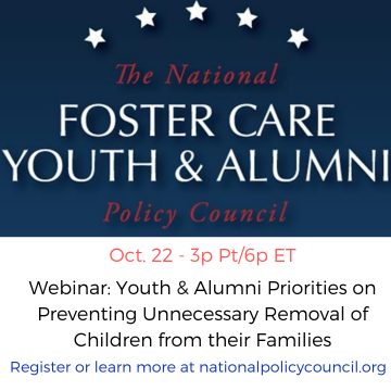 Image of the National Foster Care Youth & Alumni Policy Council logo.